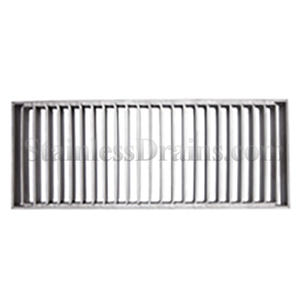 Stainless steel drain bar grate