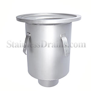round deep sump stainless steel drain