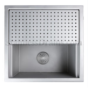 Floor Sink with Perforated Half Grate