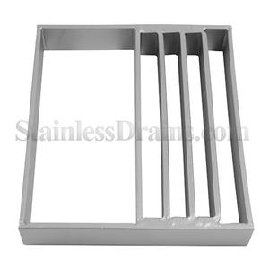 half bar grate for stainless steel drains
