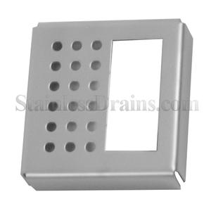 half perforated stainless steel drain grate