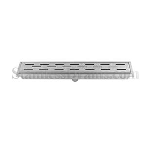 Hemmed Drain with Slotted Grate