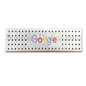 custom Google colored logo drain grate