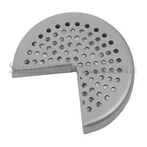 Quartered Round Perforated Grate