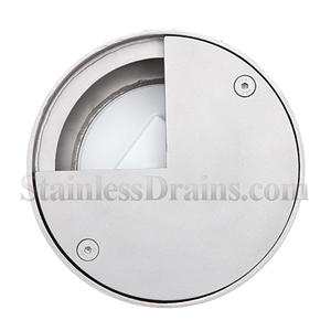 smooth top stainless steel cleanout drain