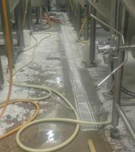 Brewery drain install