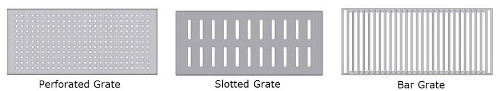 square bottom trench drain grating