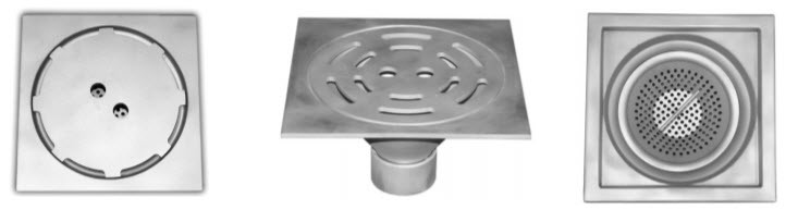 8 inch round light duty sanitary drain